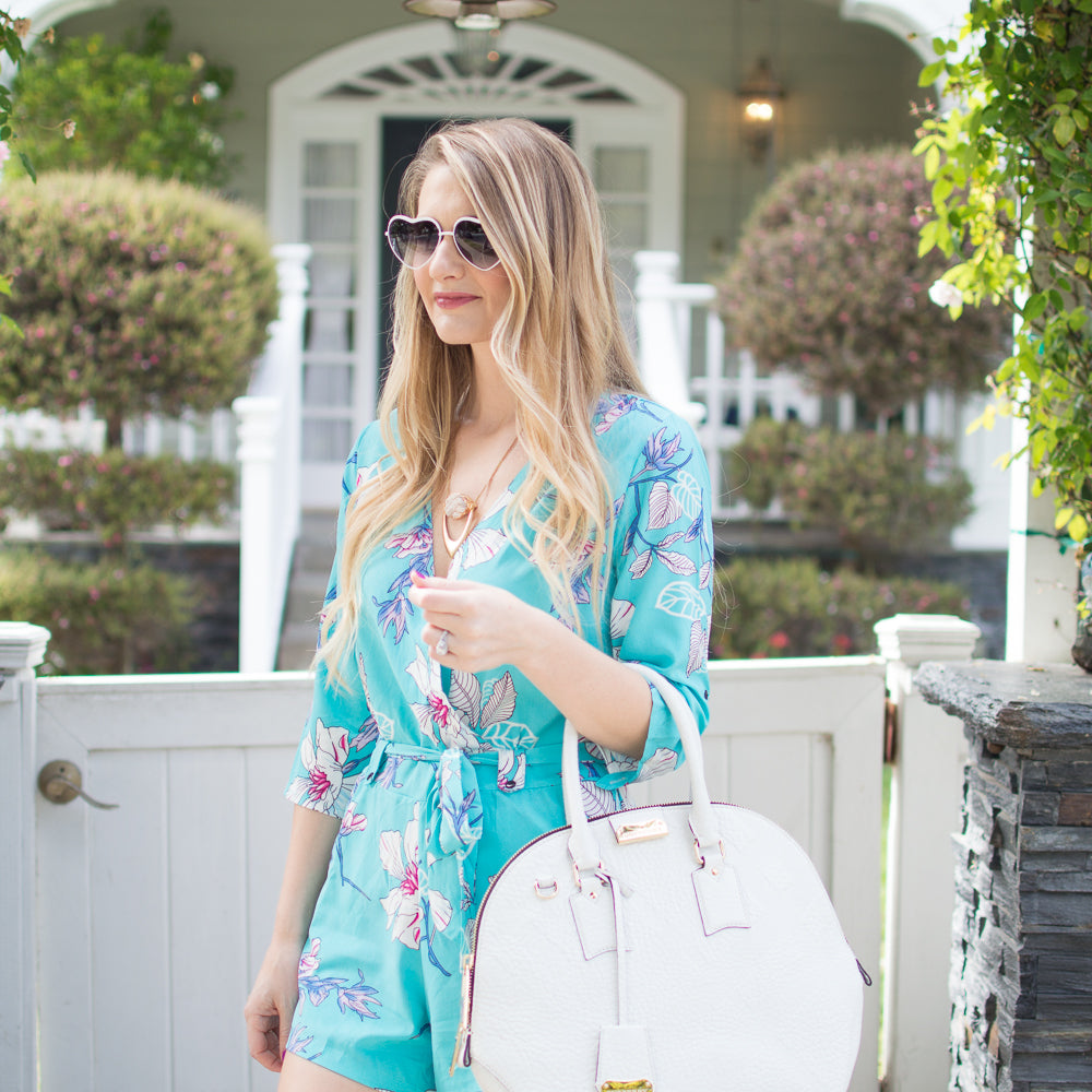 Visions of Vogue's Jenna Colgrove in a Floral Print Romper  | Mel Boteri 5 Summer Trends To Try Now