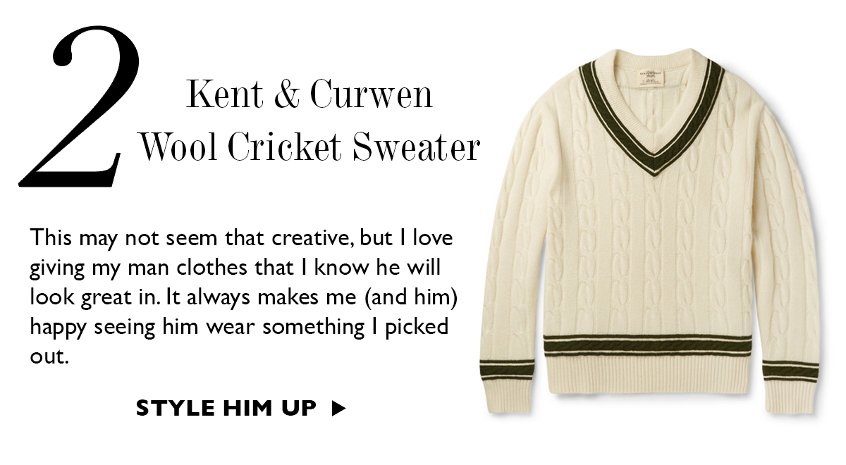 Kent & Curwen Wook Cricket Sweater at Mr. Porter | Gift Ideas For Him