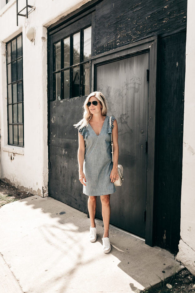 How to wear denim as we transition seasons with blogger One Small Blonde