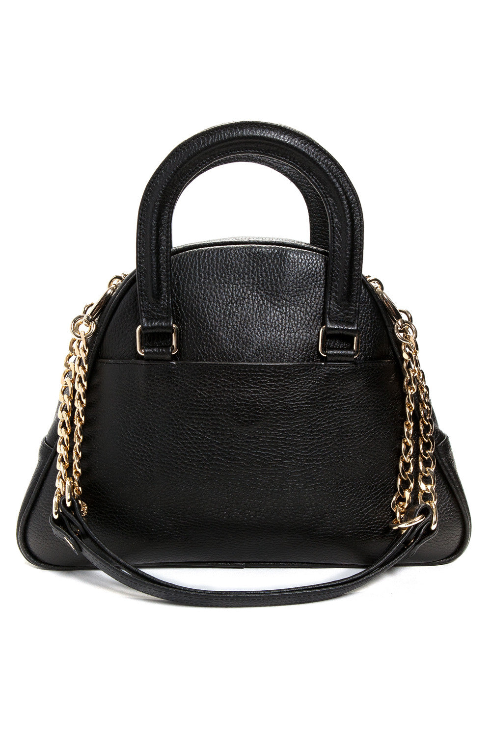 Black 'Marissa' Small Tote Handbag | Mel Boteri | Back View With Detachable Straps