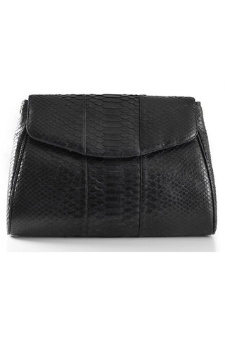 Black 'Coco' Small Shoulder Bag - Python