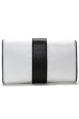 Black and White Tasseled 'Lauren' Small Shoulder Bag | Mel Boteri | Back View
