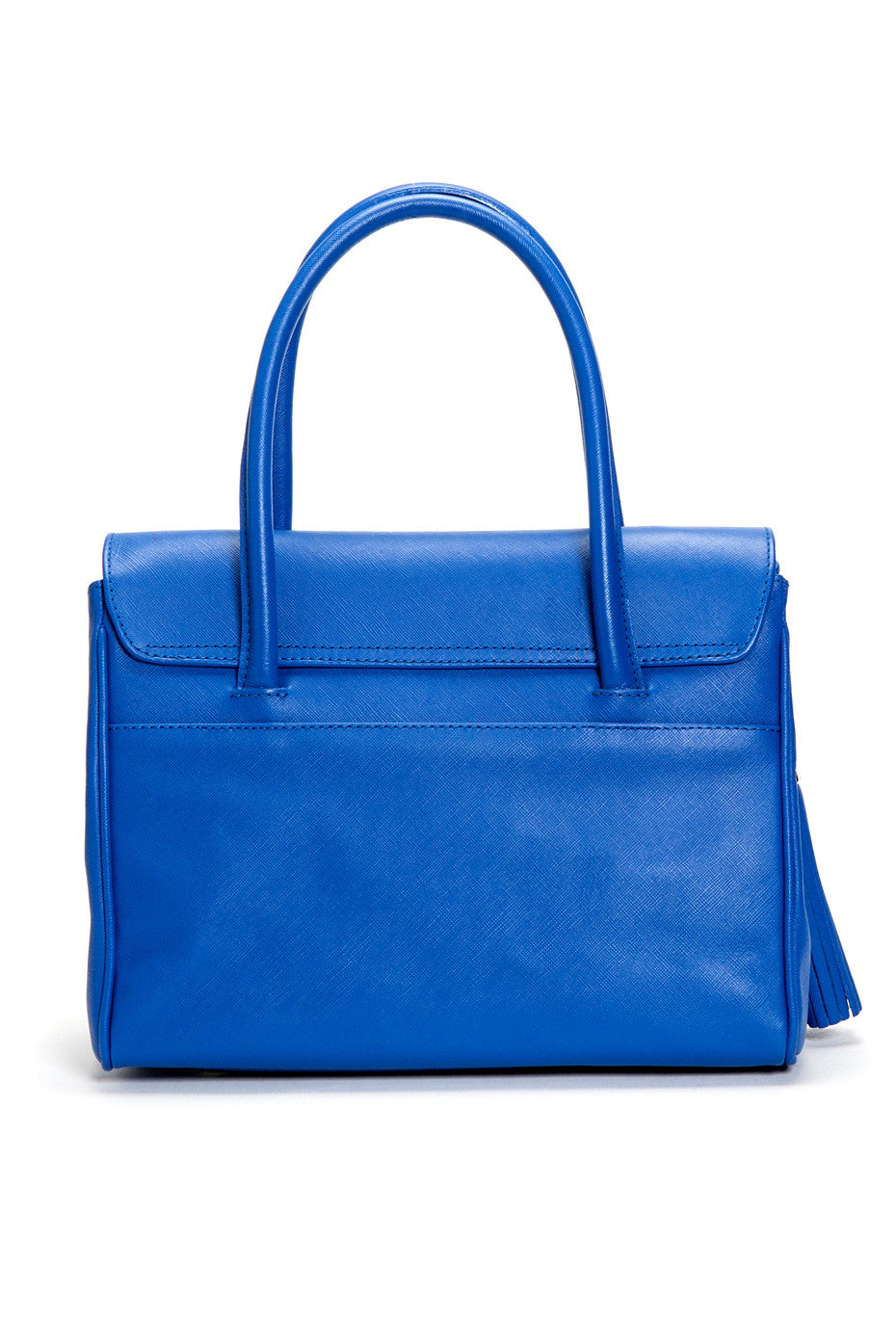 Cobalt Blue Saffiano Leather Christy Mini Tote | Back View | Mel Boteri