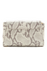 Taupe Snake Print 'Emmy' Convertible Clutch | Mel Boteri | Back