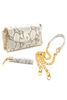 Taupe Snake Print 'Emmy' Convertible Clutch | Mel Boteri | Details