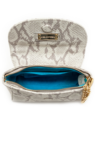 Taupe Snake Print 'Emmy' Convertible Clutch