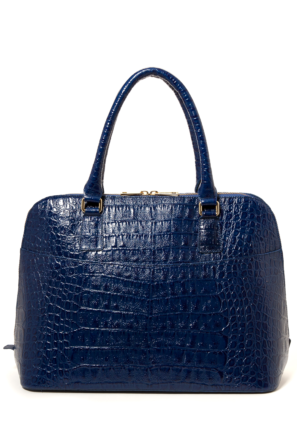 Luxe Blue, Caiman-Effect Leather 'Watson' Tote | Mel Boteri | Back View