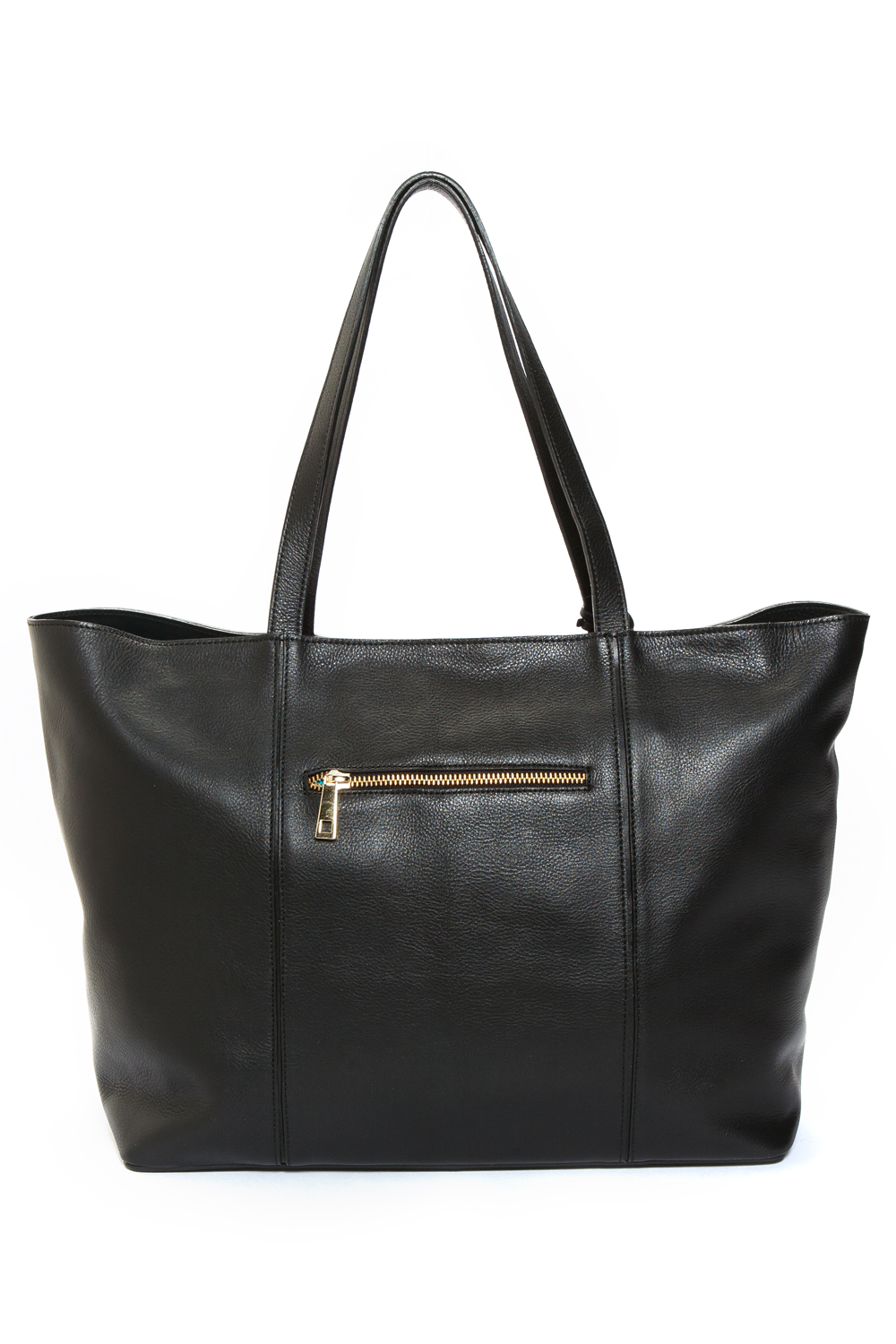 Mel Boteri | Kat Tote | Black Textured Leather | Back