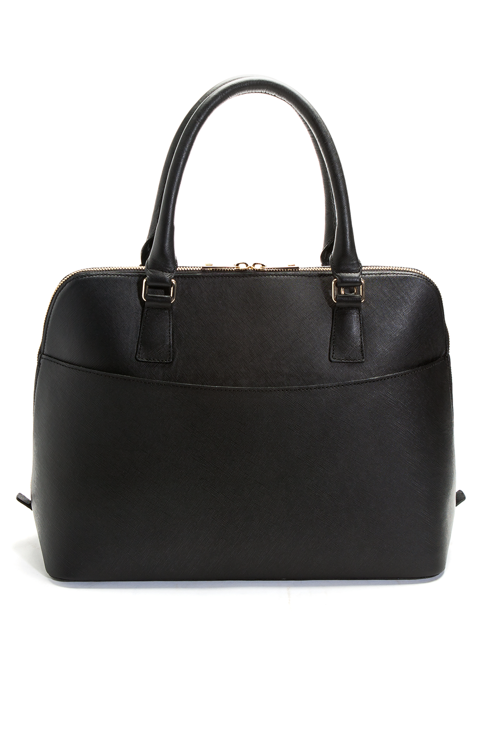 Mel Boteri Black Saffiano Leather 'Watson' Tote | Back View
