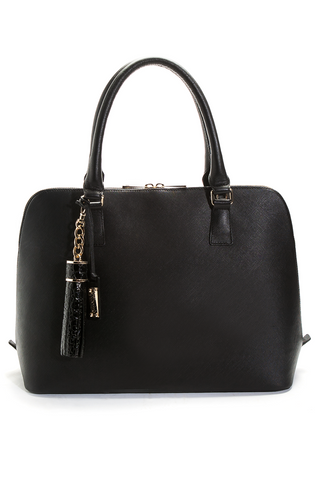 Mel Boteri Black Saffiano Leather 'Watson' Tote | Front View