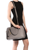 Mel Boteri Grey Saffiano Leather 'Watson' Tote | Shoulder View