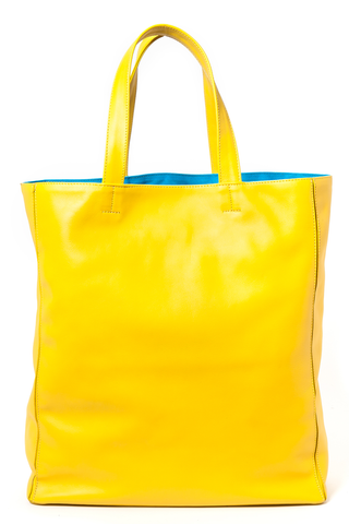 Marigold Yellow 'Stuart' Carryall Tote | Mel Boteri | Back View
