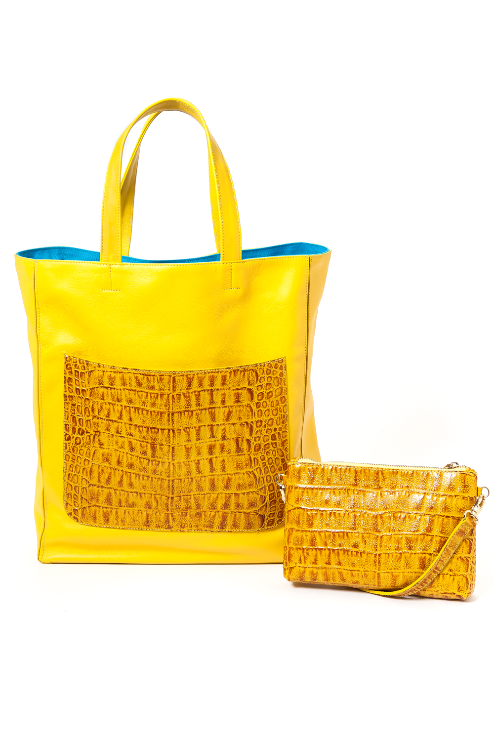 Marigold Yellow 'Stuart' Carryall Tote | Mel Boteri | Duo View