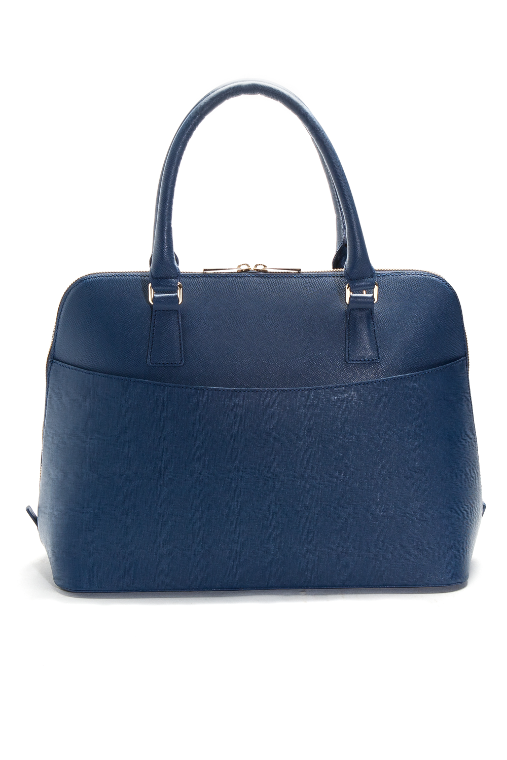 Mel Boteri | Blue Saffiano Leather 'Watson' Tote | Back