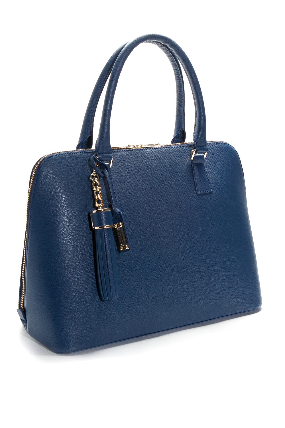 Mel Boteri | Blue Saffiano Leather 'Watson' Tote | Side