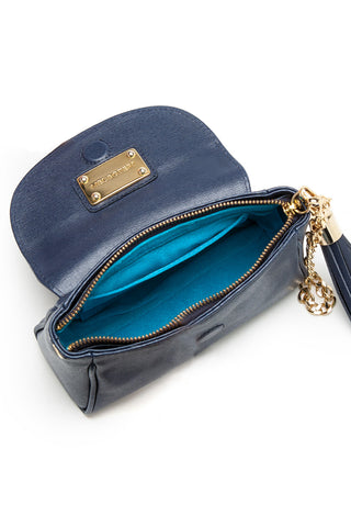 Navy Saffiano Leather 'Emmy' Convertible Clutch