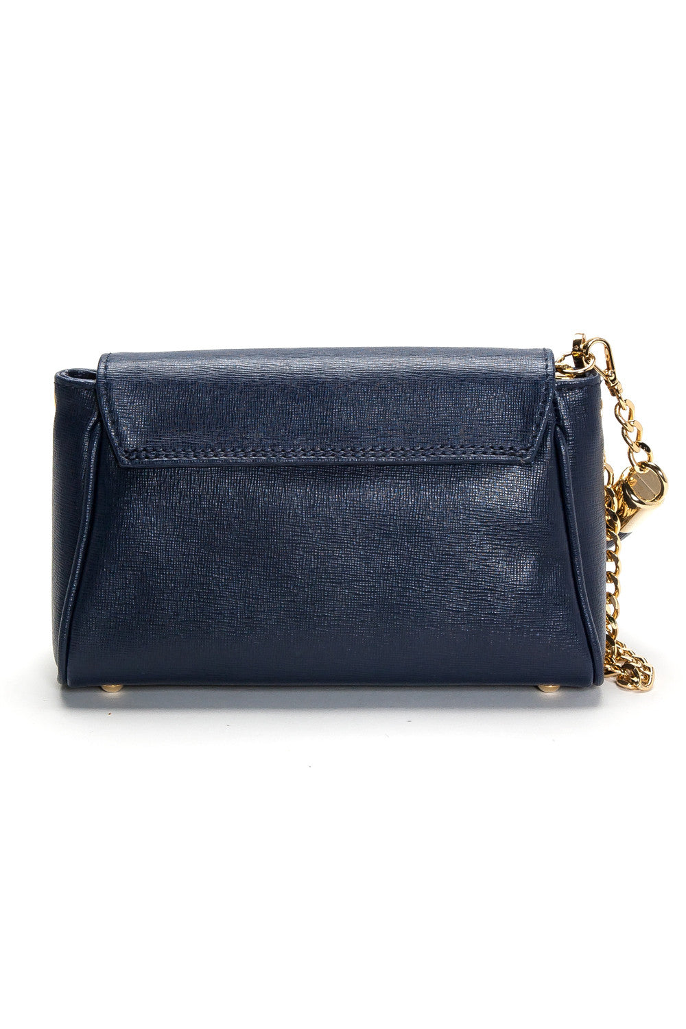 'Emmy' Navy Saffiano Leather Convertible Clutch | Back View| Mel Boteri Handbags