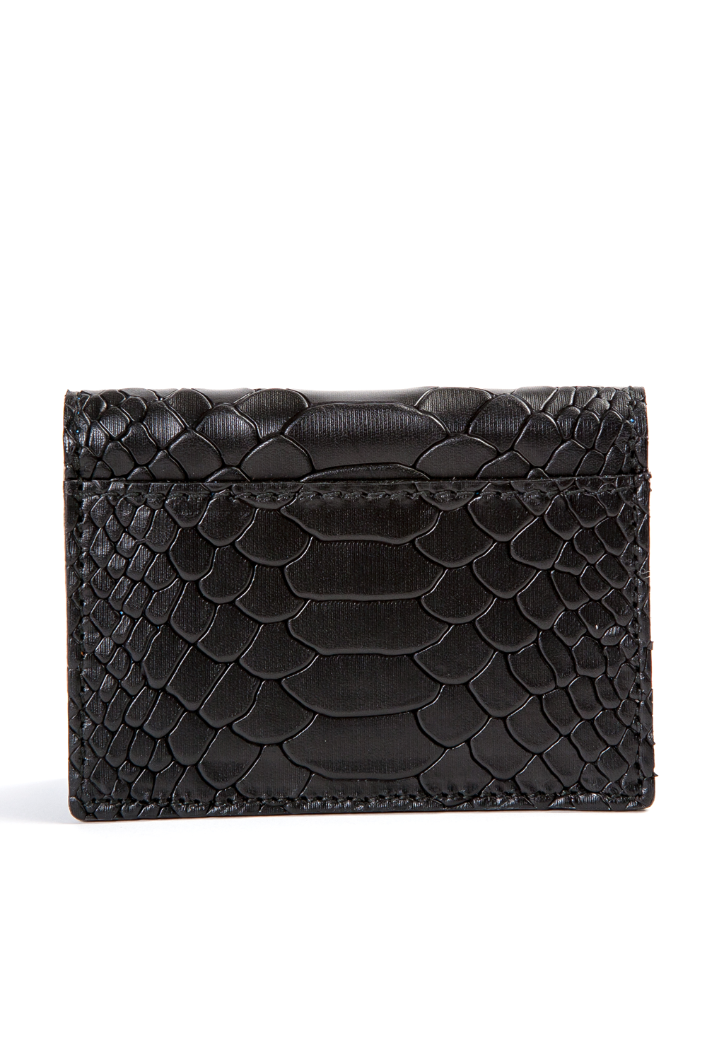 Mel Boteri | 'Nice To Meet You' Cardholder | Black Snake Print Leather | Back