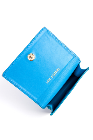 Mel Boteri | 'Nice To Meet You' Cardholder | Turquoise Leather | Interior