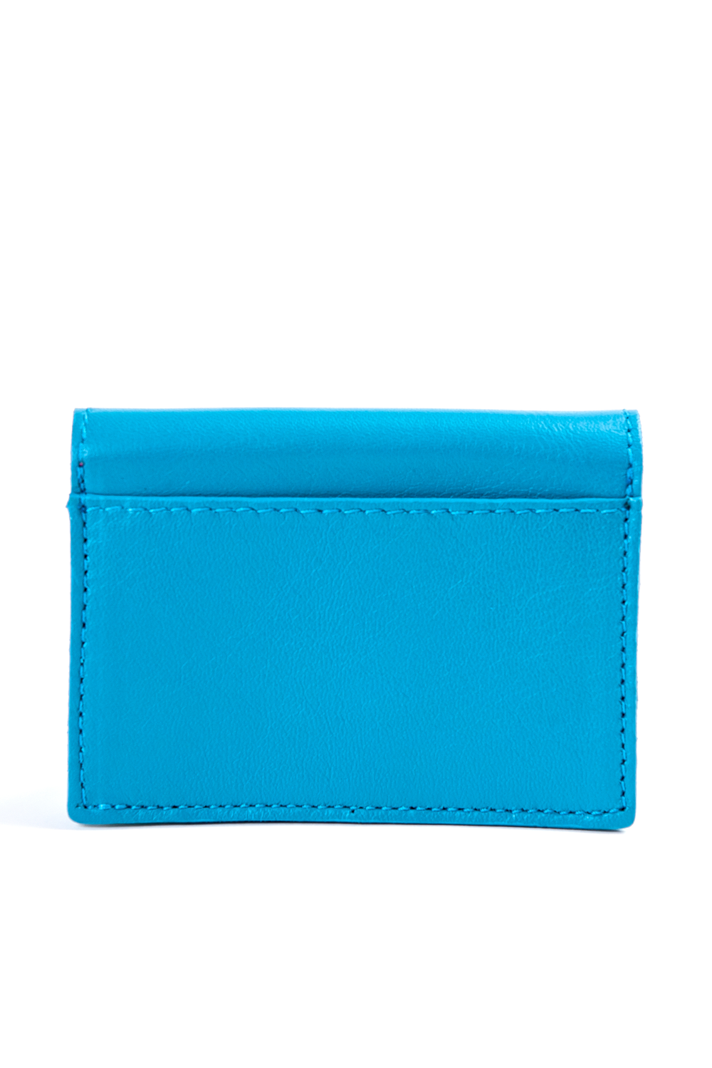 Mel Boteri | 'Nice To Meet You' Cardholder | Turquoise Leather | Back