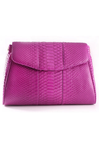 Magenta 'Coco' Small Shoulder Bag - Python | Mel Boteri | Front View