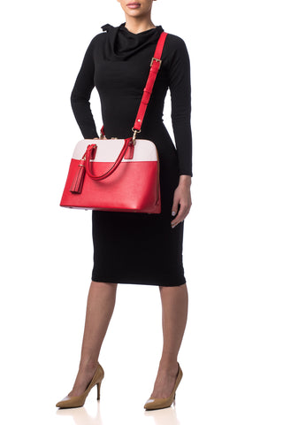 Red Rose Watson Tote | On Body View | Mel Boteri
