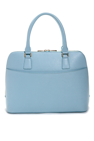 Mel Boteri | Serenity Blue Leather 'Watson' Tote | Back