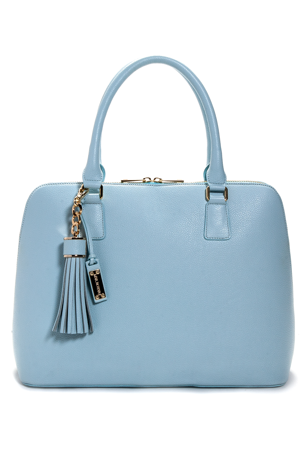 Mel Boteri | Serenity Blue Leather 'Watson' Tote | Front