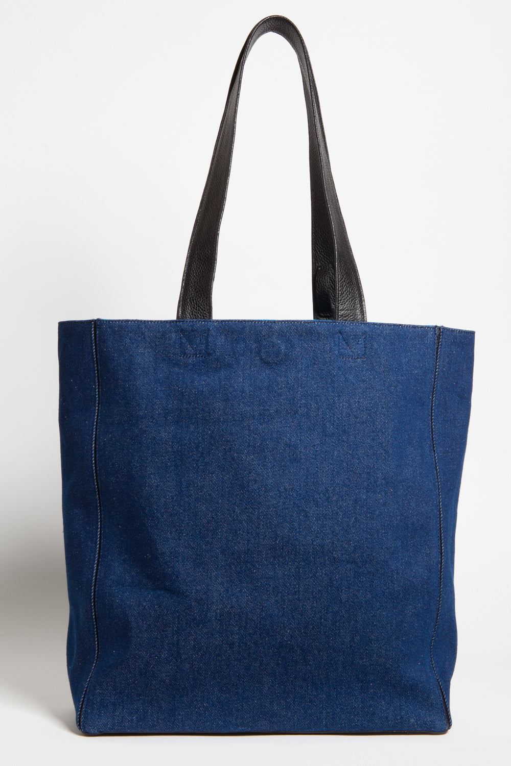 Dark Denim 'Stuart' Carryall Tote | Mel Boteri | Back View