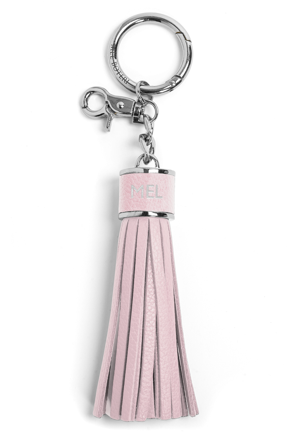 The Mel Boteri Pebbled-Leather Tassel Charm | Doll Leather With Silver Hardware | Mel Boteri Gift Ideas