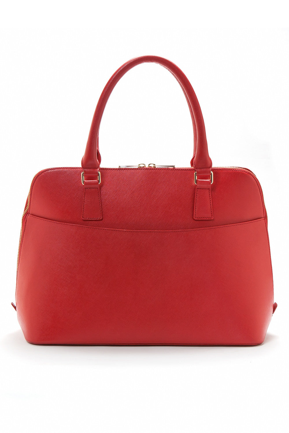 Red Saffiano Leather 'Watson' Tote | Mel Boteri | Back