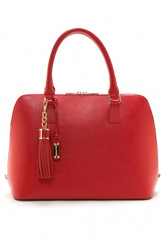 Red Saffiano Leather 'Watson' Tote | Mel Boteri | Front
