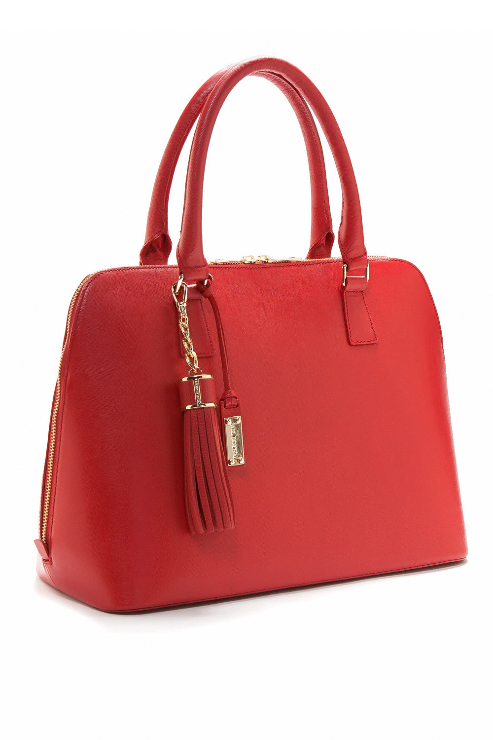 Red Saffiano Leather 'Watson' Tote | Mel Boteri | Side