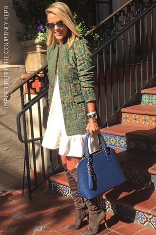 Courtney Kerr of What Courtney Wore | Mel Boteri Style Blogger Collection | Front