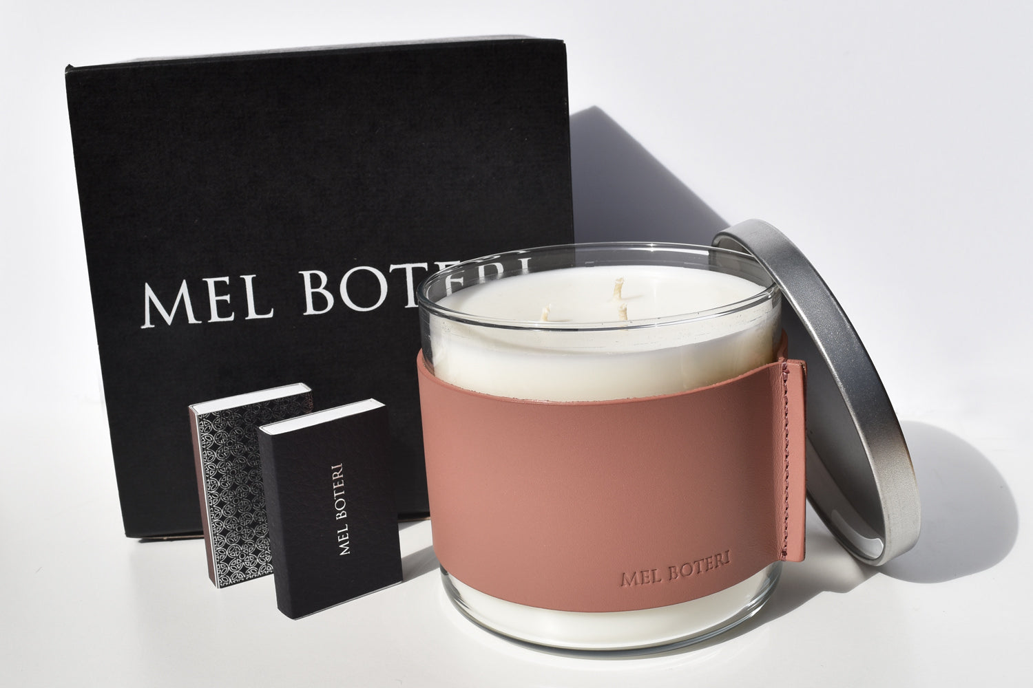 White Tea & Ginger Scented Candle | Mel Boteri Home Collection | Gift Set