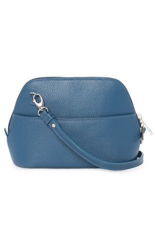 Denim Leather 'Watson Mini' Cross-Body & Clutch Bag | Mel Boteri | Back View