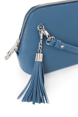 Denim Leather 'Watson Mini' Cross-Body & Clutch Bag | Mel Boteri | Detail View
