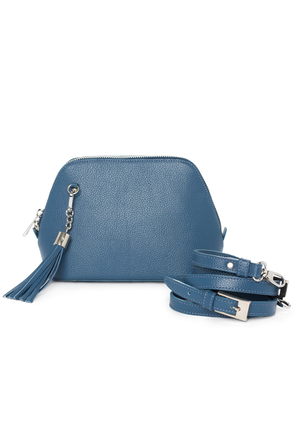 Denim Leather 'Watson Mini' Cross-Body & Clutch Bag | Mel Boteri | Front