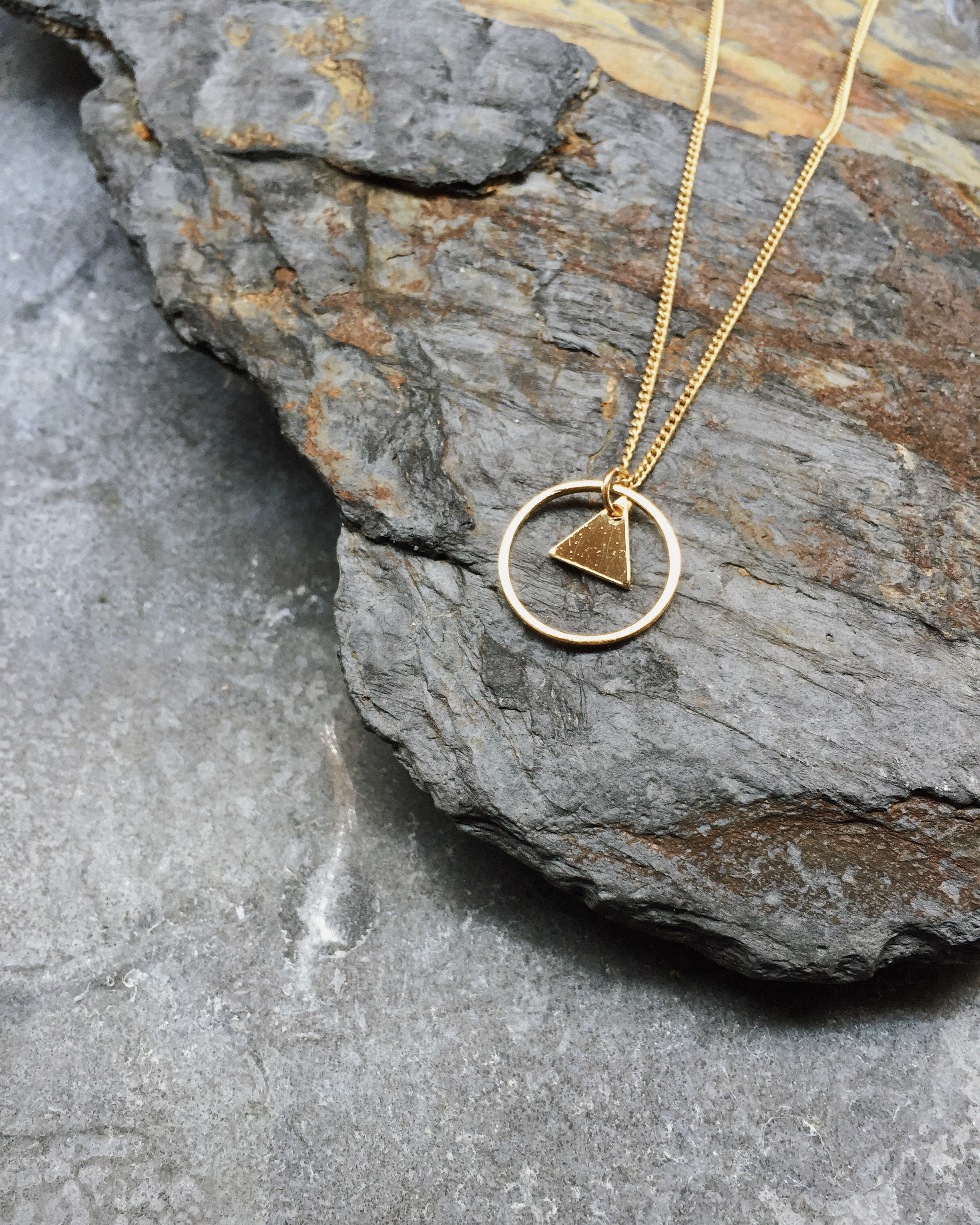 Circle Triangle Necklace