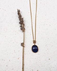 Stone & Beads Blue Agate Necklace