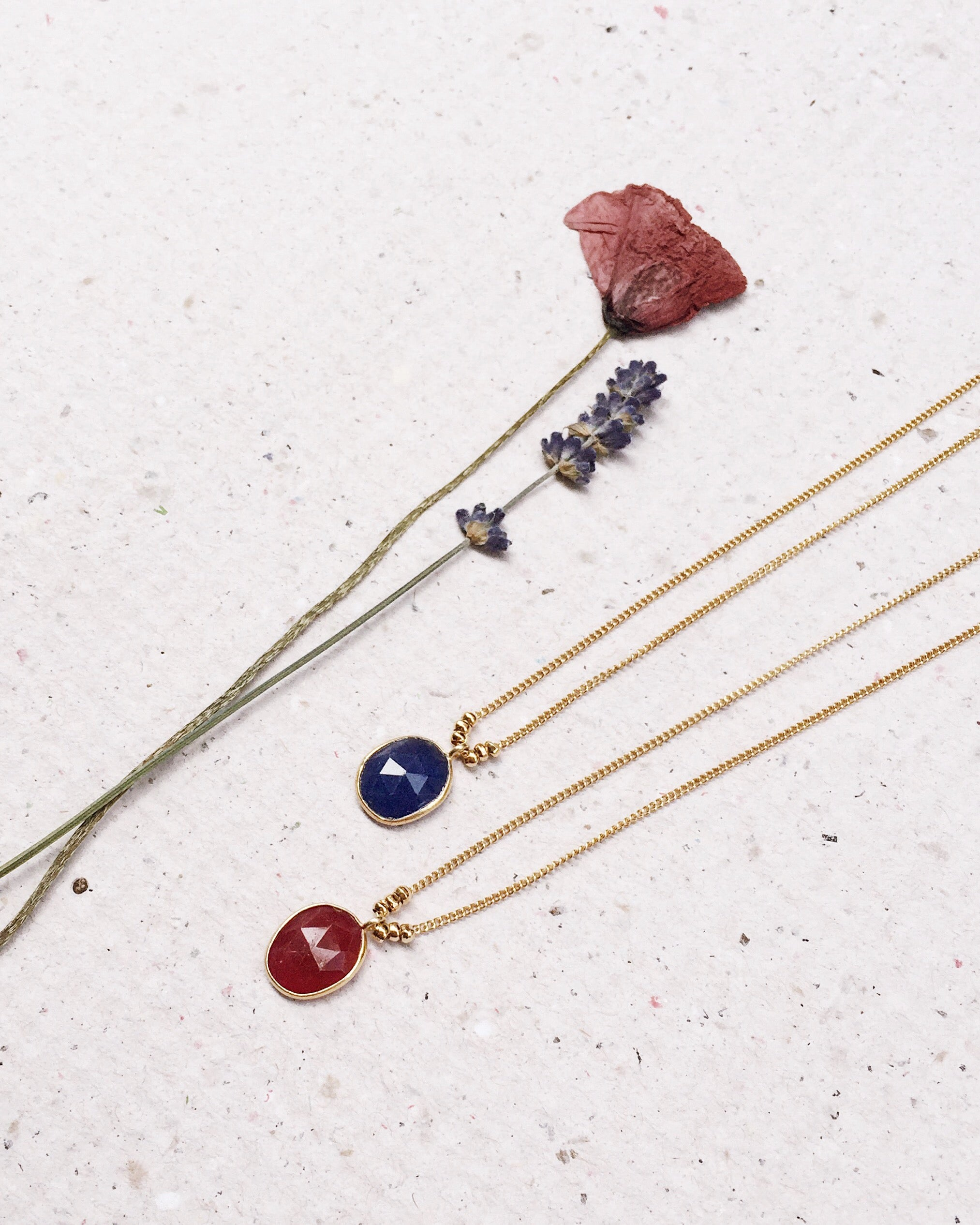 Stone & Beads Red Agate Necklace