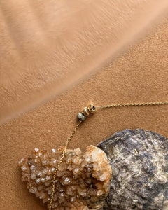 Pyrite & gold beads necklace