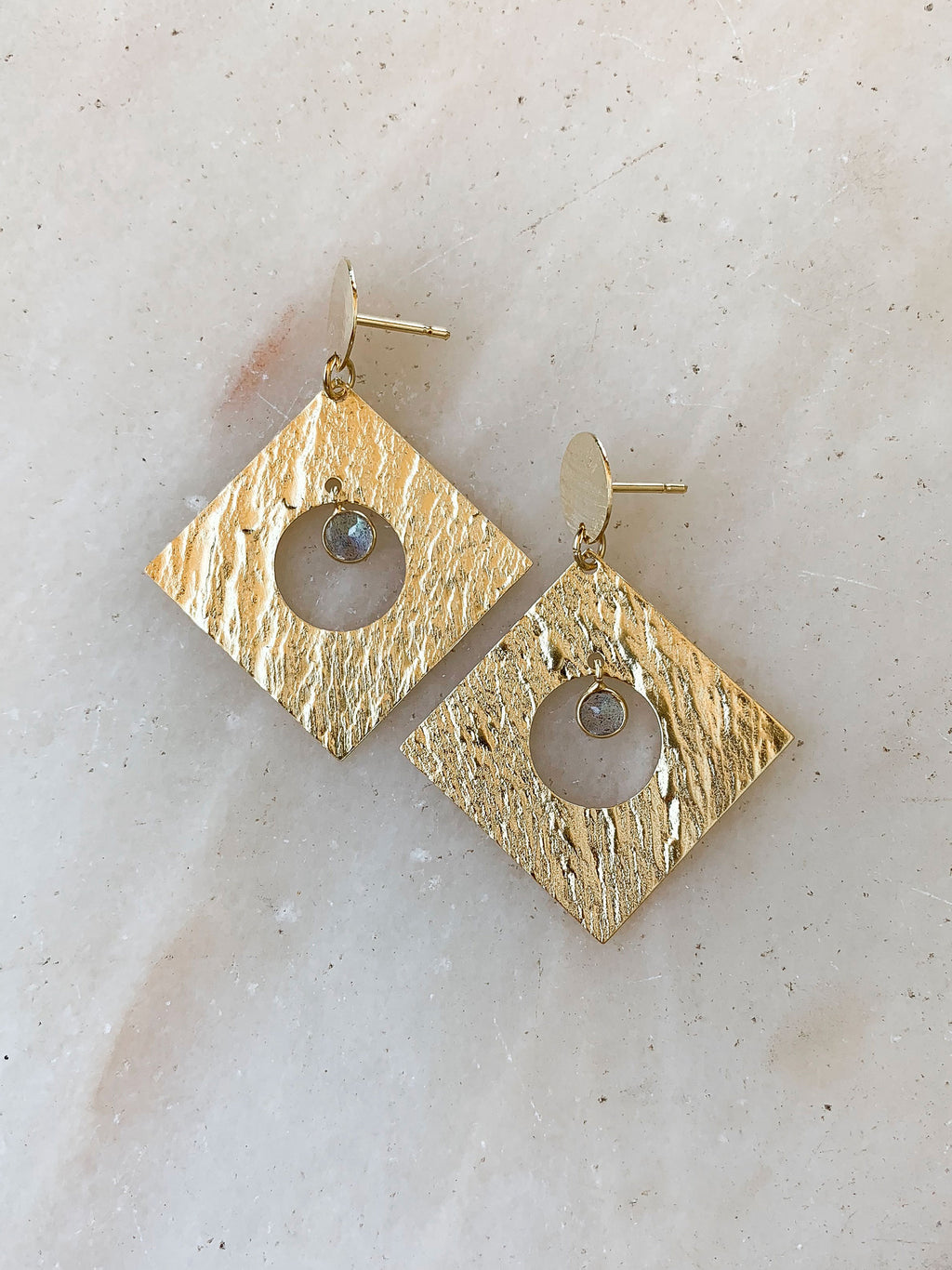 Rock Square Earrings