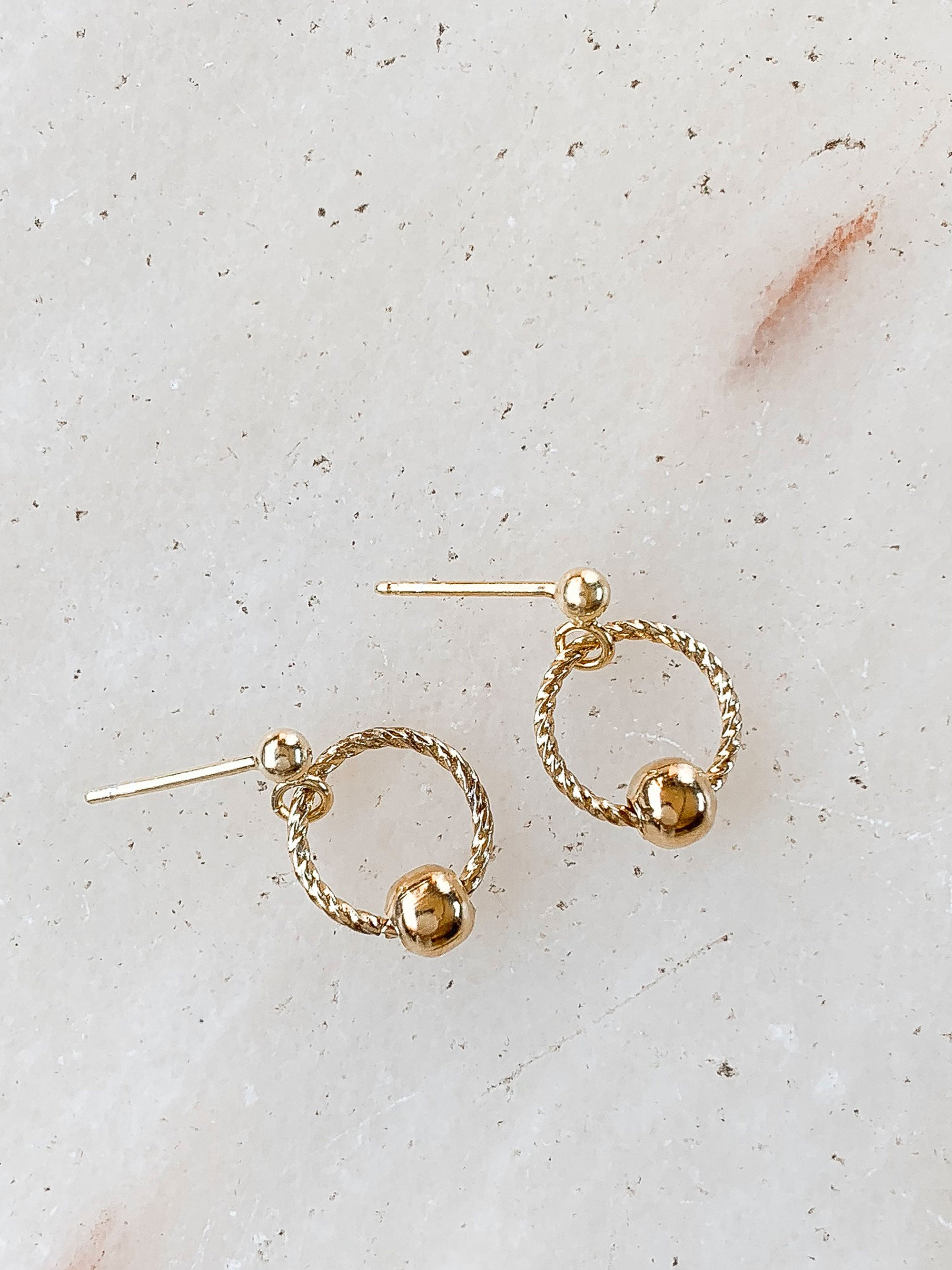 Twist Circle Earrings