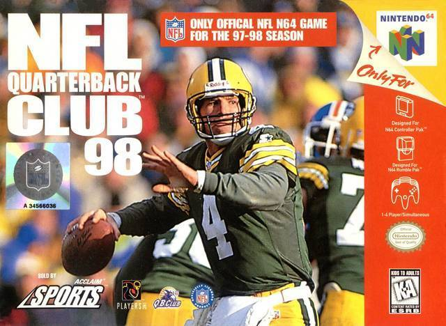 NFL QUARTERBACK CLUB '98 - Video Game Delivery