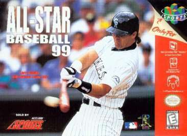 ALL STAR BASEBALL 99 - Video Game Delivery