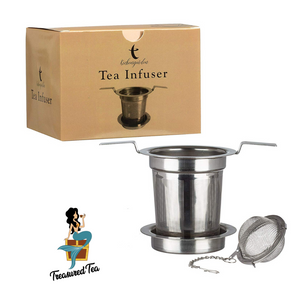 Infuser / Stainless Teacup Ball and Fine Mesh Basket Set