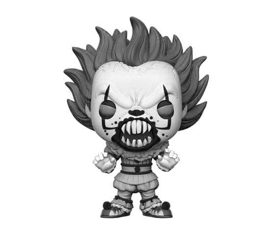 It Black Amp White Pennywise With Teeth Funko Pop Vinyl