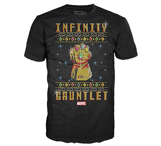 Funko - Infinity Gauntlet Christmas T-Shirt (Marvel Collector Corps Exclusive)