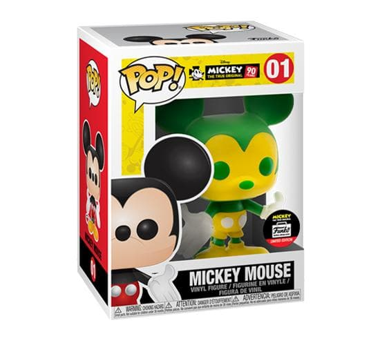 Mickey's 90th - Green & Yellow Mickey Mouse #01 (Funko Shop) Funko Pop! Vinyl
